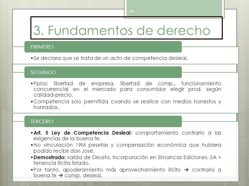 3. Fundamentos de derecho
