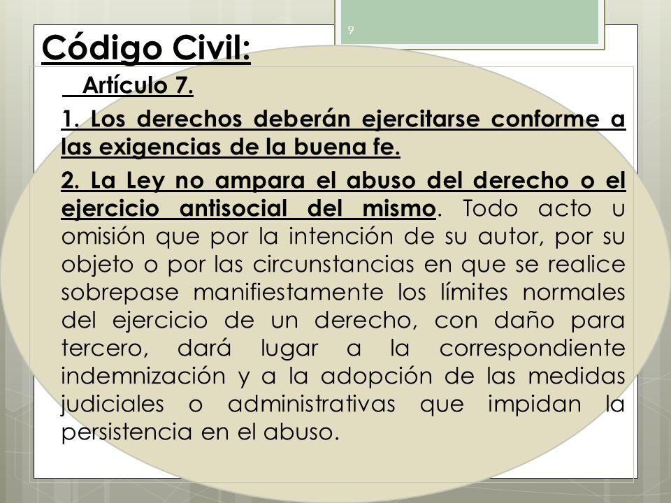 Código Civil: