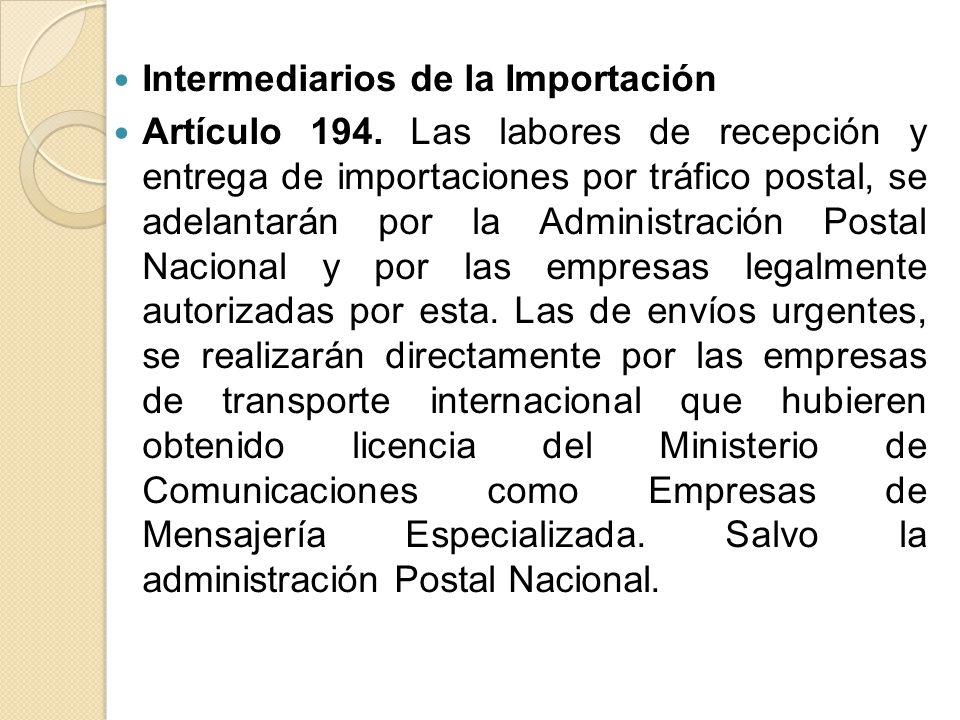 Intermediarios de la Importación