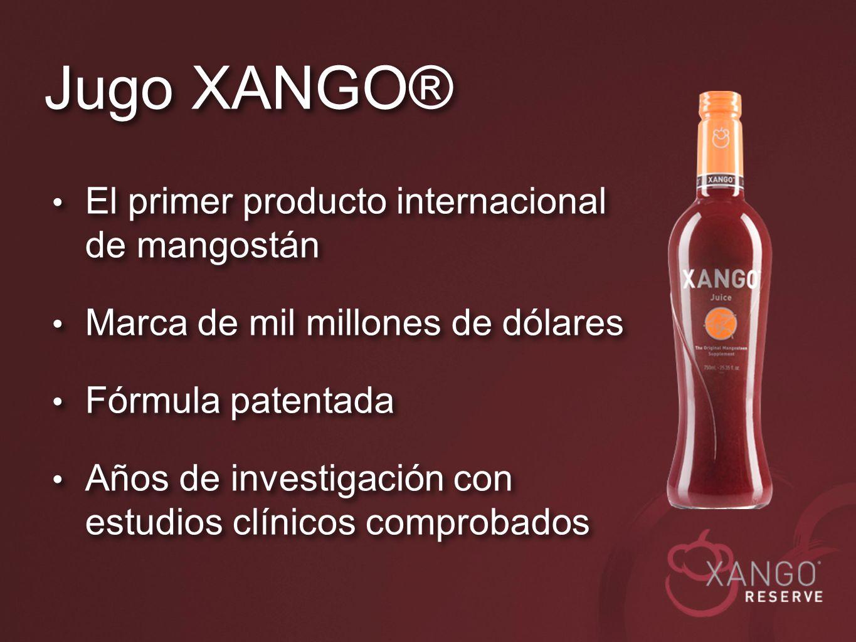 Jugo XANGO® El primer producto internacional de mangostán