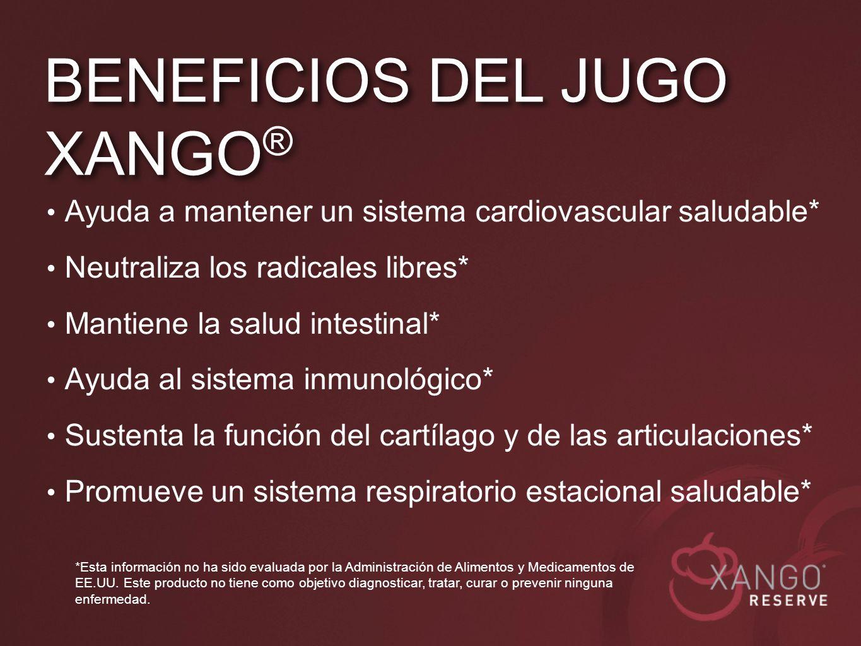 BENEFICIOS DEL JUGO XANGO®