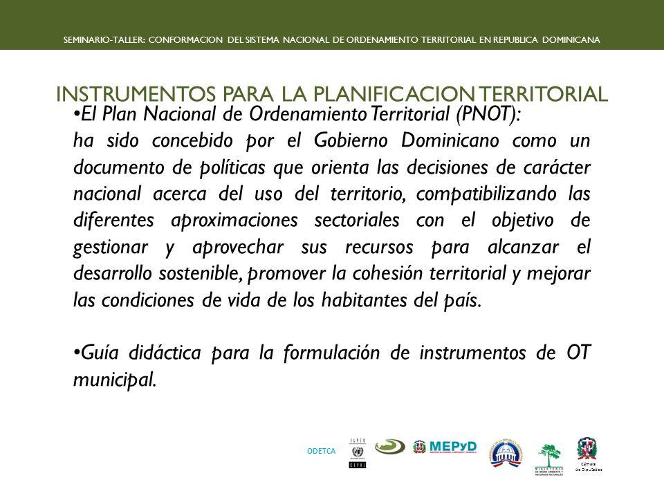 INSTRUMENTOS PARA LA PLANIFICACION TERRITORIAL