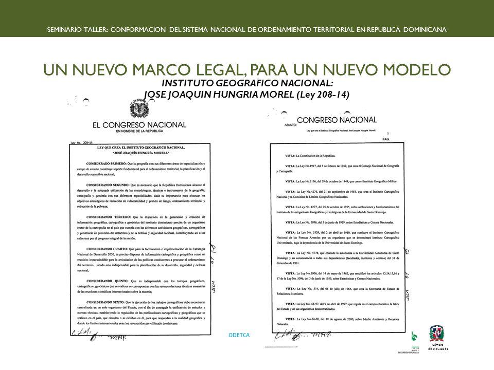 INSTITUTO GEOGRAFICO NACIONAL: JOSE JOAQUIN HUNGRIA MOREL (Ley 208-14)