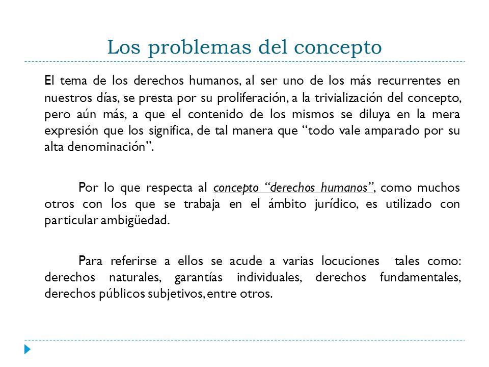 Los problemas del concepto