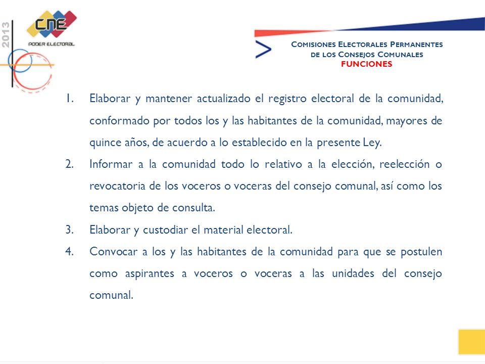 Comisiones Electorales Permanentes de los Consejos Comunales