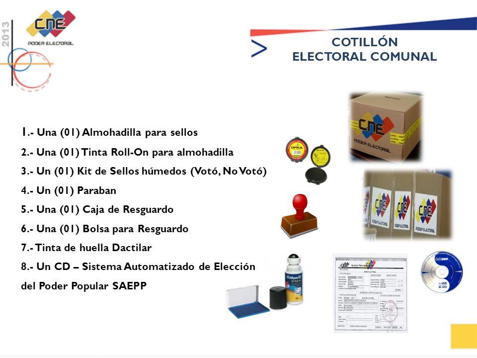 COTILLÓN ELECTORAL COMUNAL