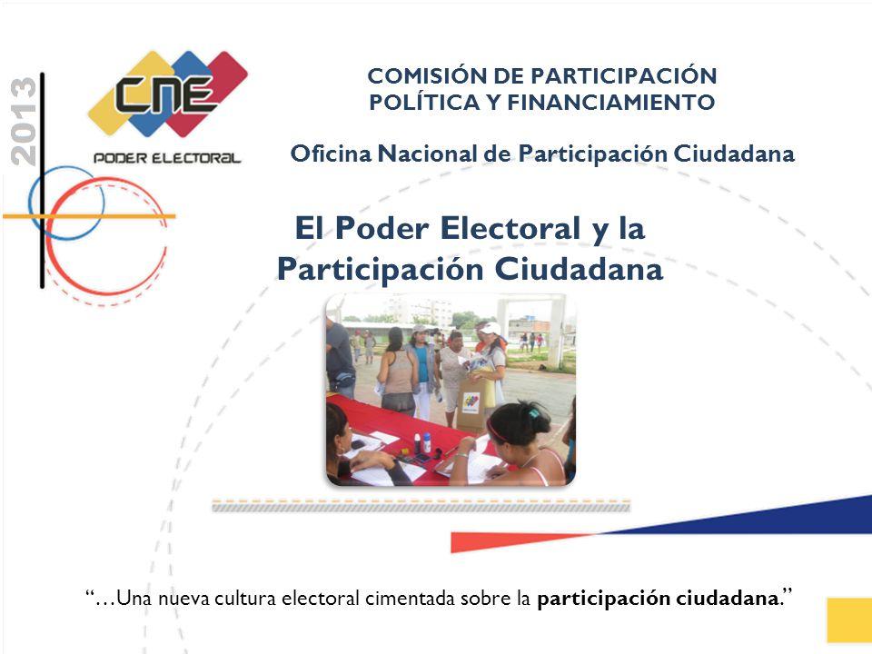 El Poder Electoral y la Participación Ciudadana