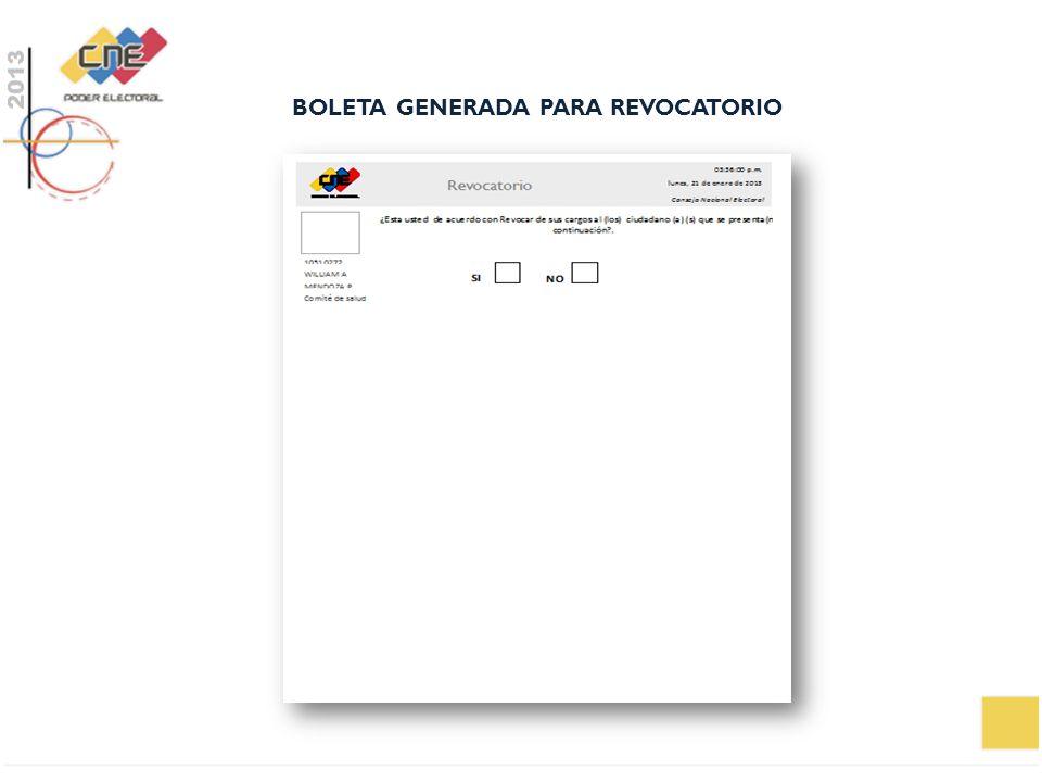 BOLETA GENERADA PARA REVOCATORIO