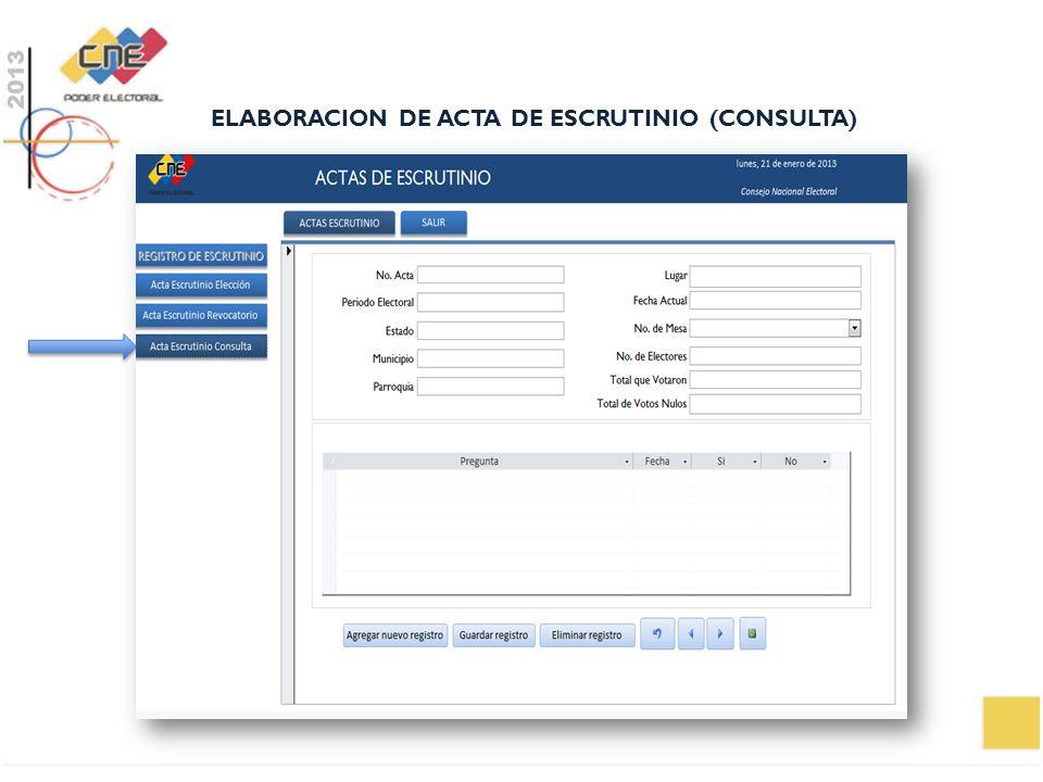 ELABORACION DE ACTA DE ESCRUTINIO (CONSULTA)