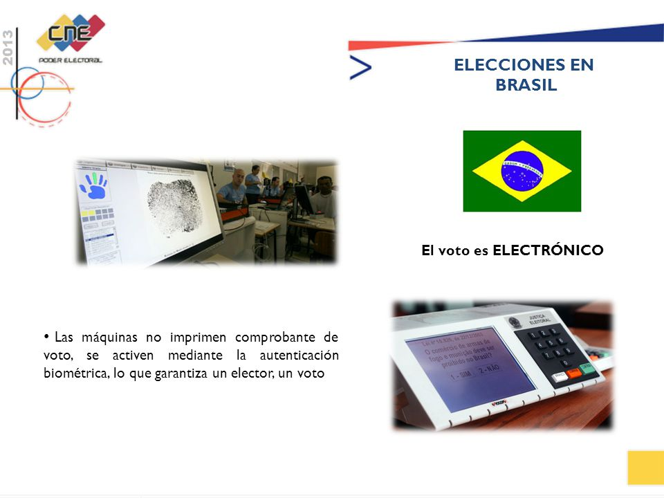ELECCIONES EN BRASIL. El voto es ELECTRÓNICO.