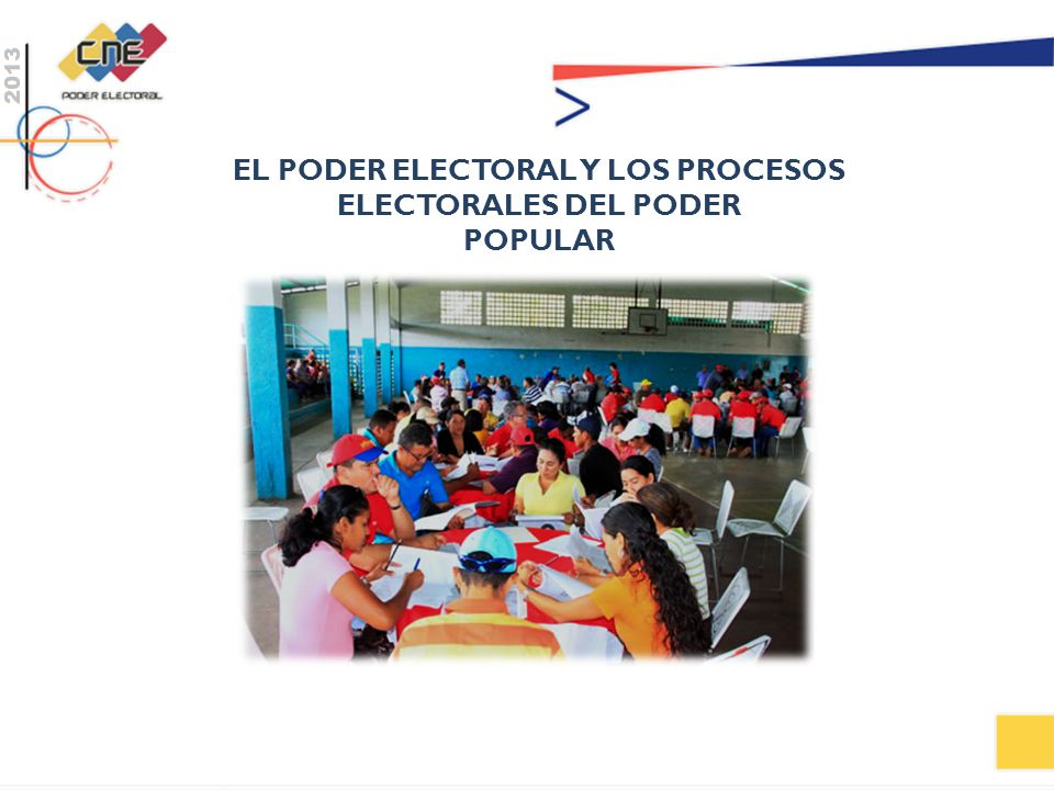 EL PODER ELECTORAL Y LOS PROCESOS ELECTORALES DEL PODER
