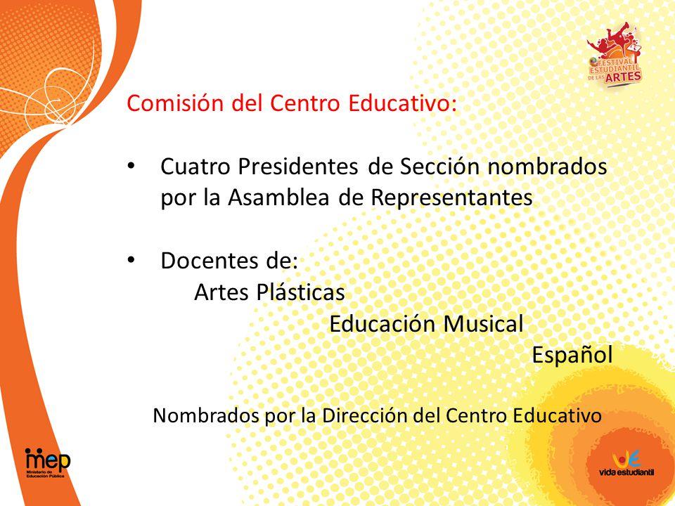Nombrados por la Dirección del Centro Educativo