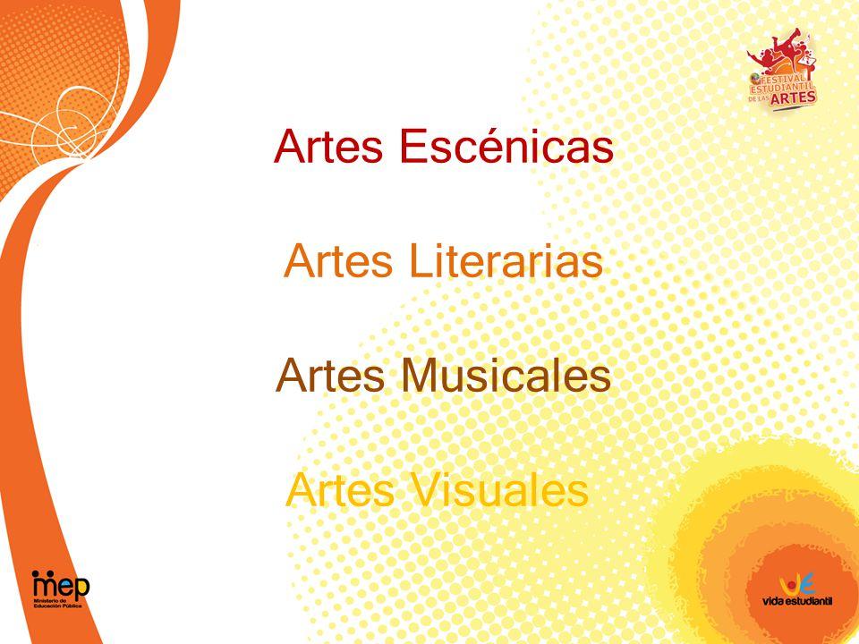 Artes Escénicas Artes Literarias Artes Musicales Artes Visuales