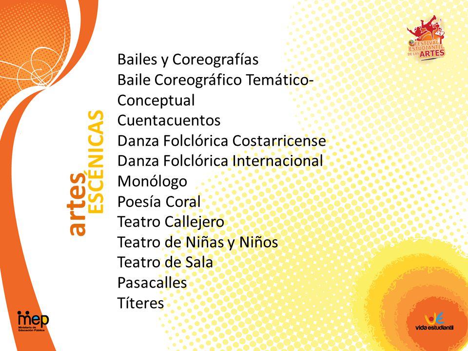 artes ESCÉNICAS Bailes y Coreografías