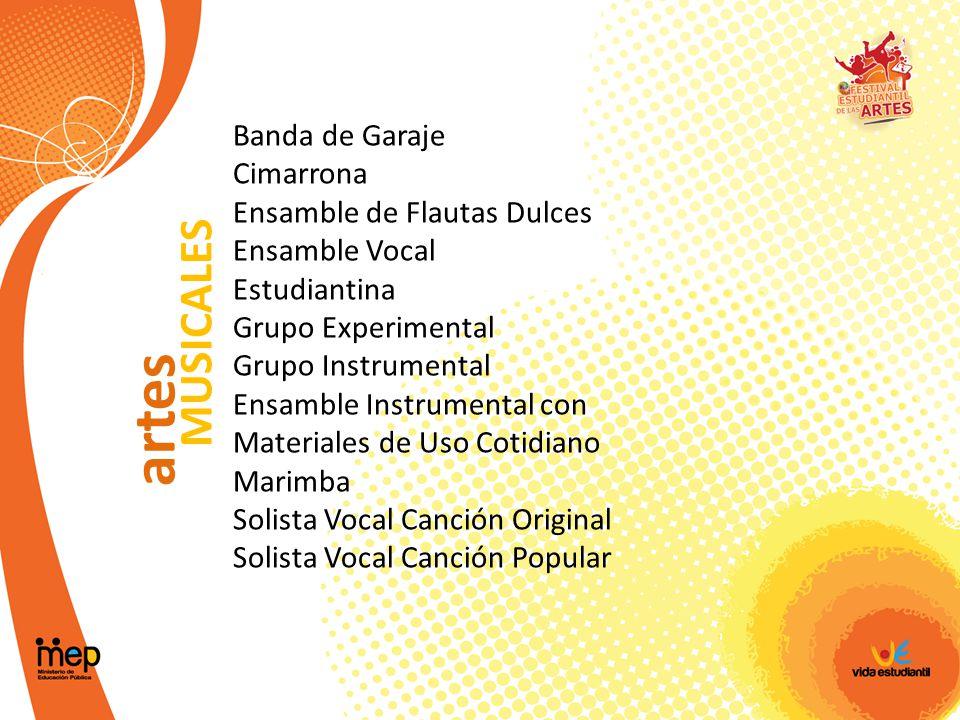 artes MUSICALES Banda de Garaje Cimarrona Ensamble de Flautas Dulces