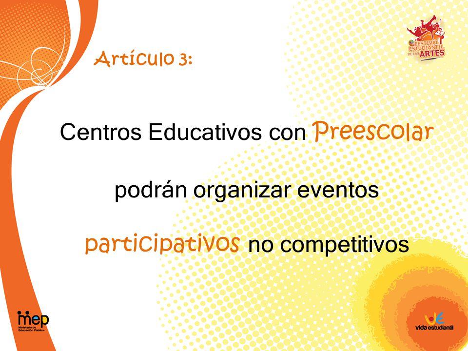 Centros Educativos con Preescolar podrán organizar eventos