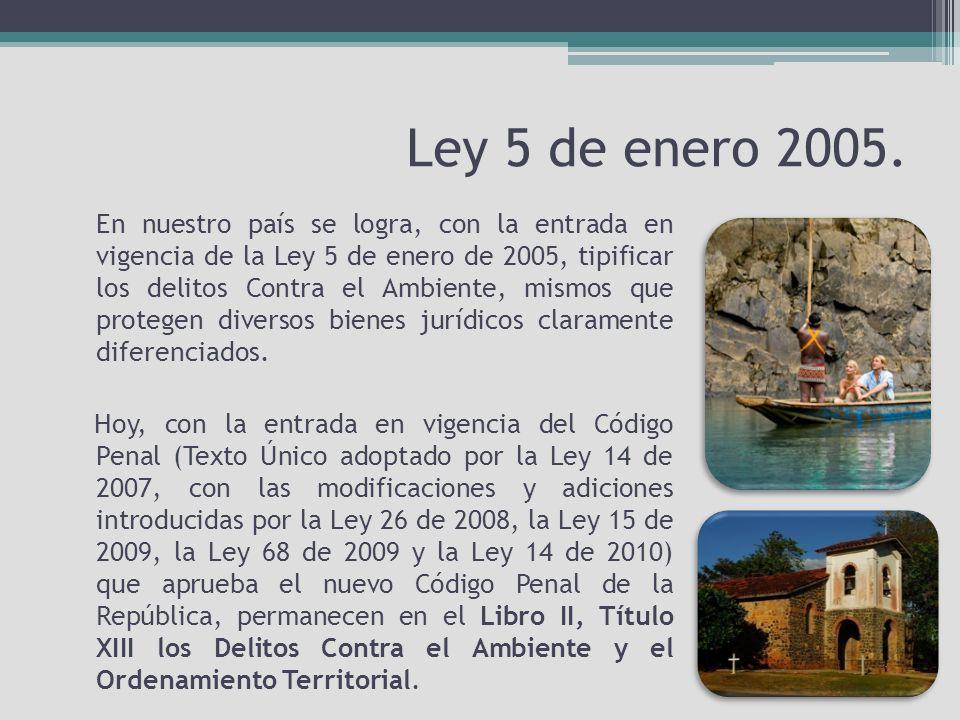 Ley 5 de enero 2005.