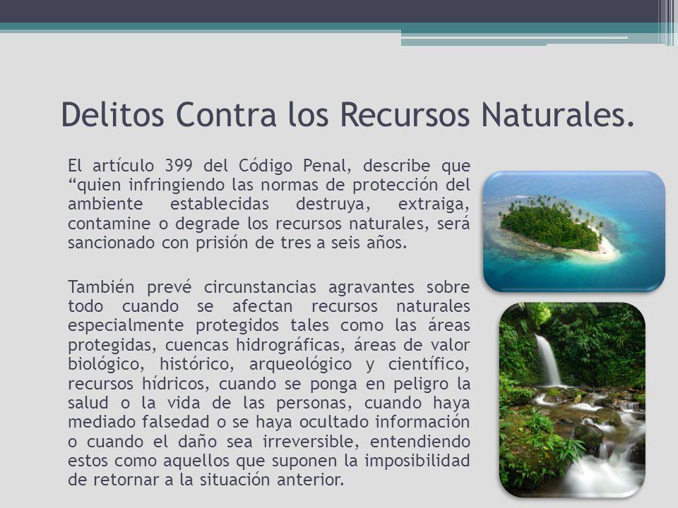 Delitos Contra los Recursos Naturales.
