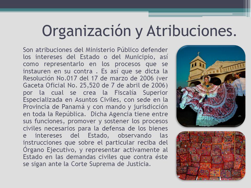 Organización y Atribuciones.