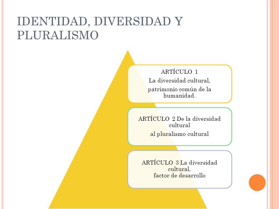 IDENTIDAD, DIVERSIDAD Y PLURALISMO