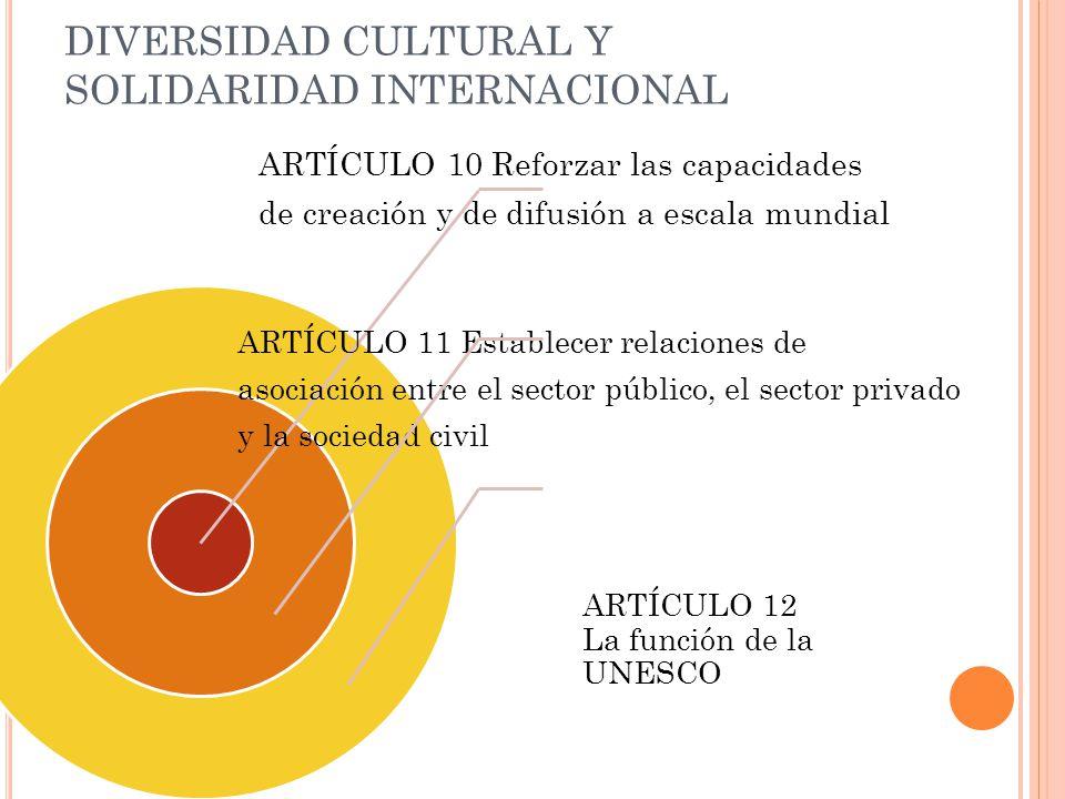 DIVERSIDAD CULTURAL Y SOLIDARIDAD INTERNACIONAL