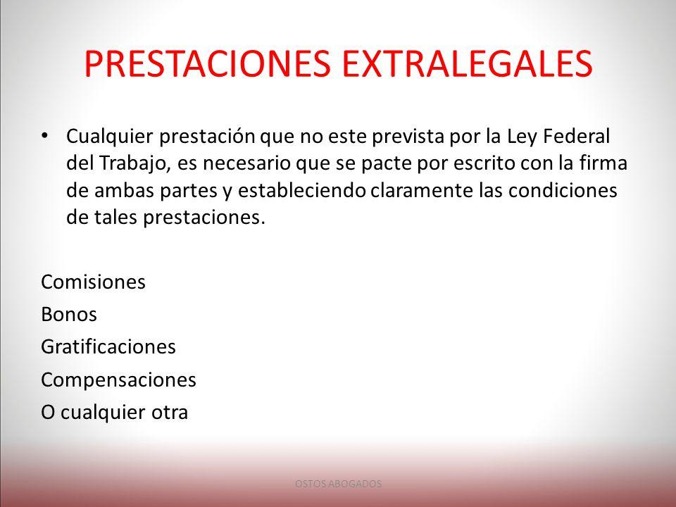 PRESTACIONES EXTRALEGALES