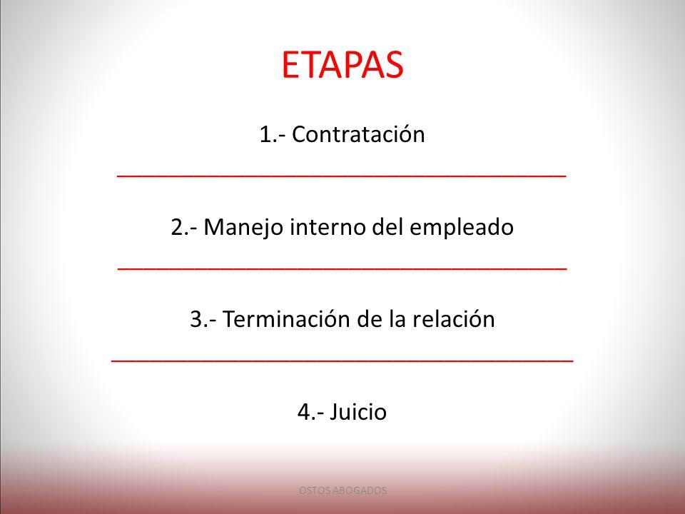 ETAPAS 1.- Contratación ___________________________________
