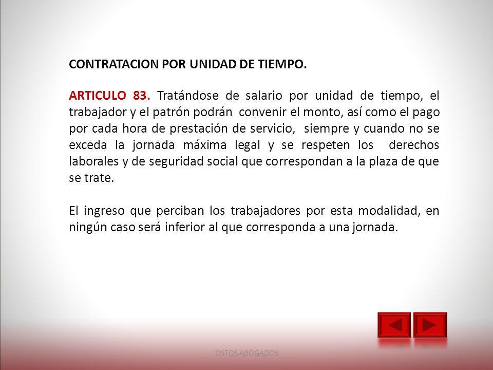 CONTRATACION POR UNIDAD DE TIEMPO.