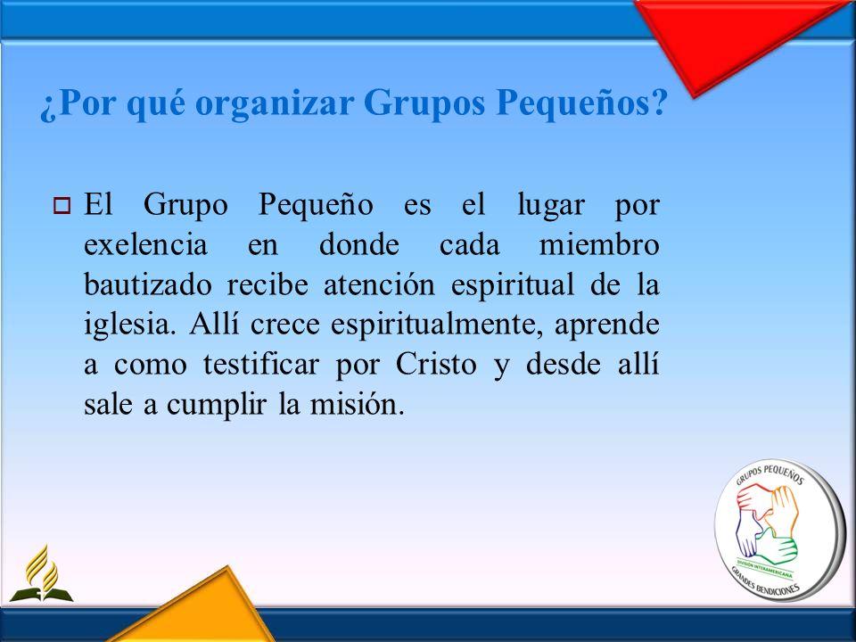 ¿Por qué organizar Grupos Pequeños