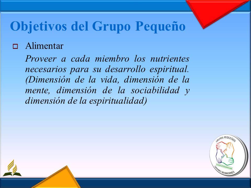 Objetivos del Grupo Pequeño