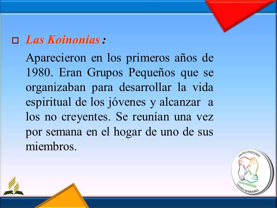 Las Koinonías :