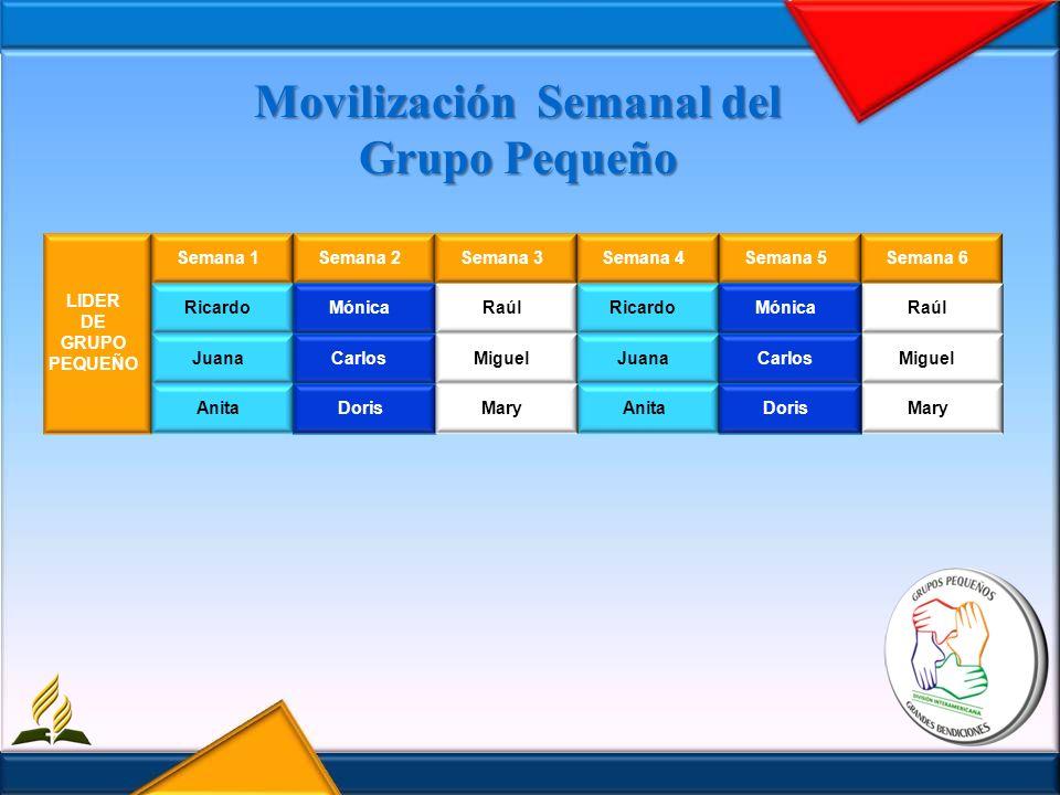 Movilización Semanal del Grupo Pequeño