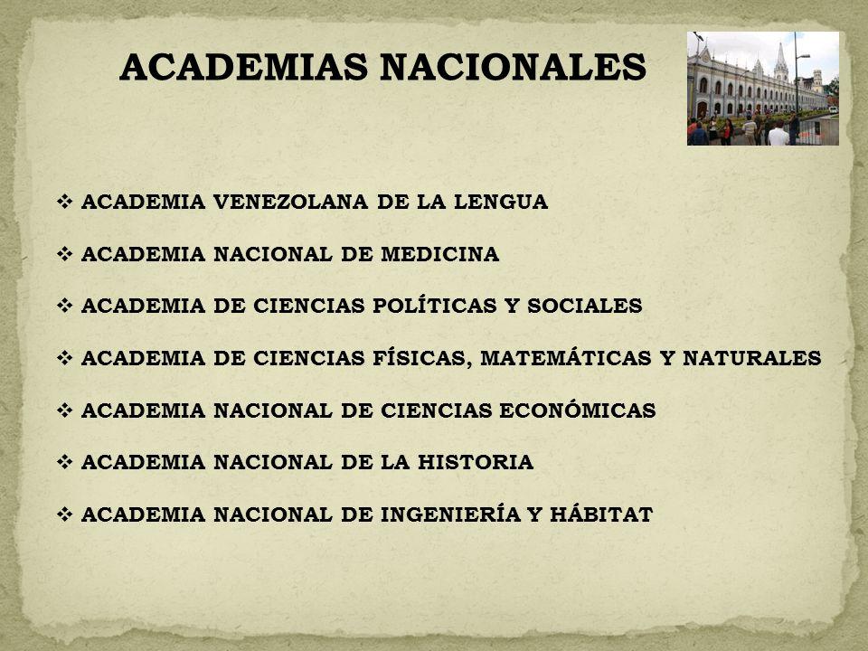ACADEMIAS NACIONALES ACADEMIA VENEZOLANA DE LA LENGUA