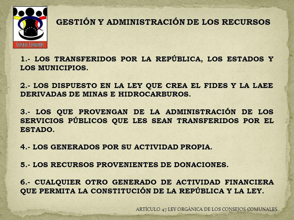 GESTIÓN Y ADMINISTRACIÓN DE LOS RECURSOS