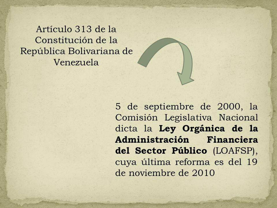 Artículo 313 de la Constitución de la República Bolivariana de Venezuela