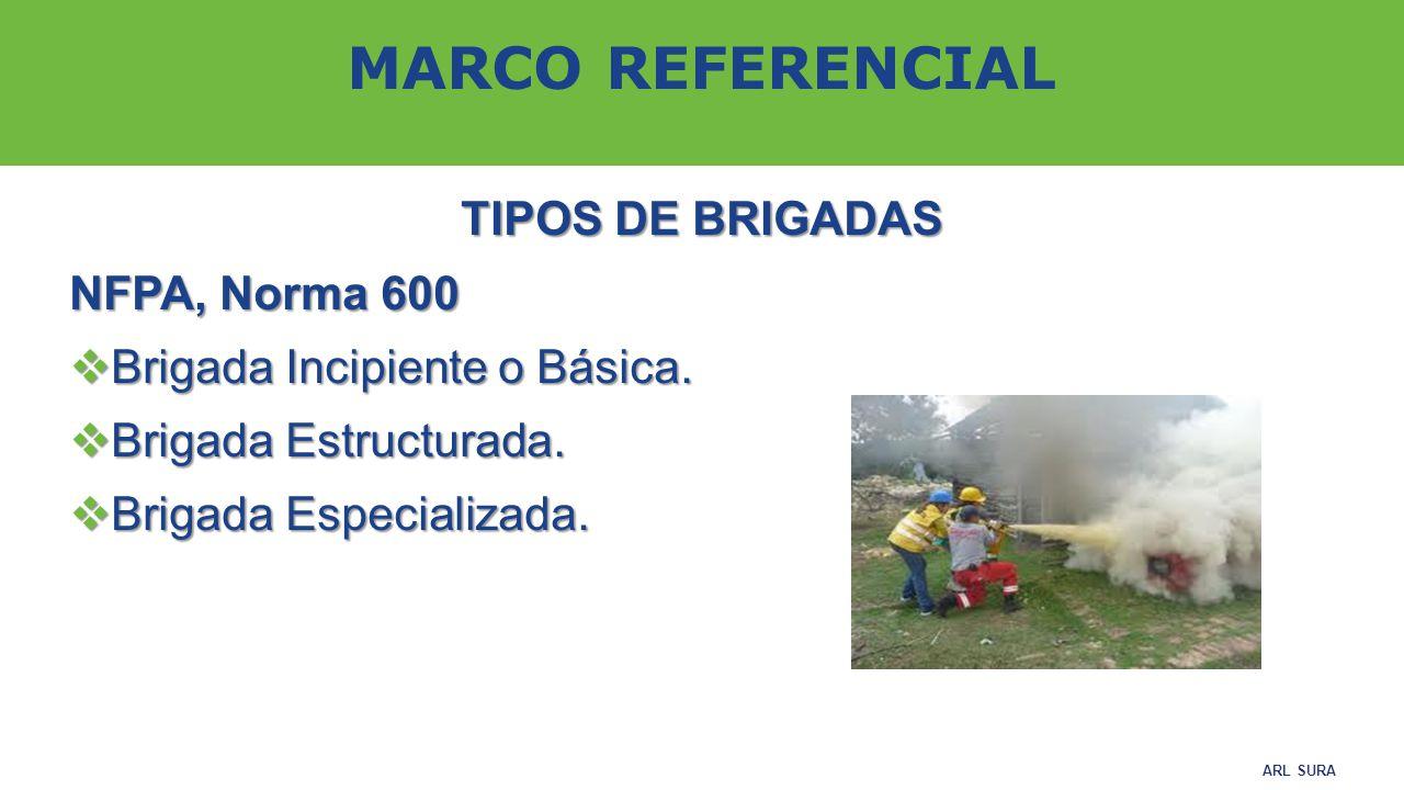 MARCO REFERENCIAL TIPOS DE BRIGADAS NFPA, Norma 600