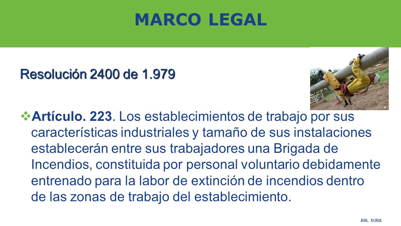 MARCO LEGAL Resolución 2400 de 1.979