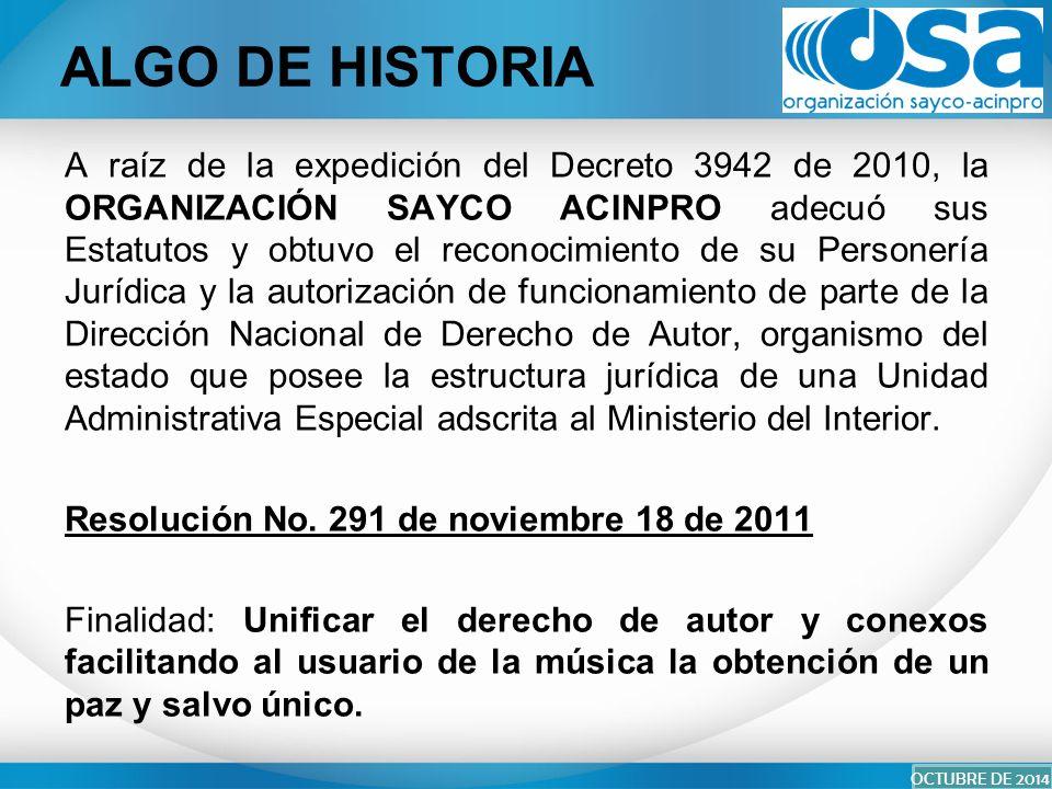 Organizaci n sayco acinpro carrera 17 pbx ppt descargar - Estructura ministerio del interior ...