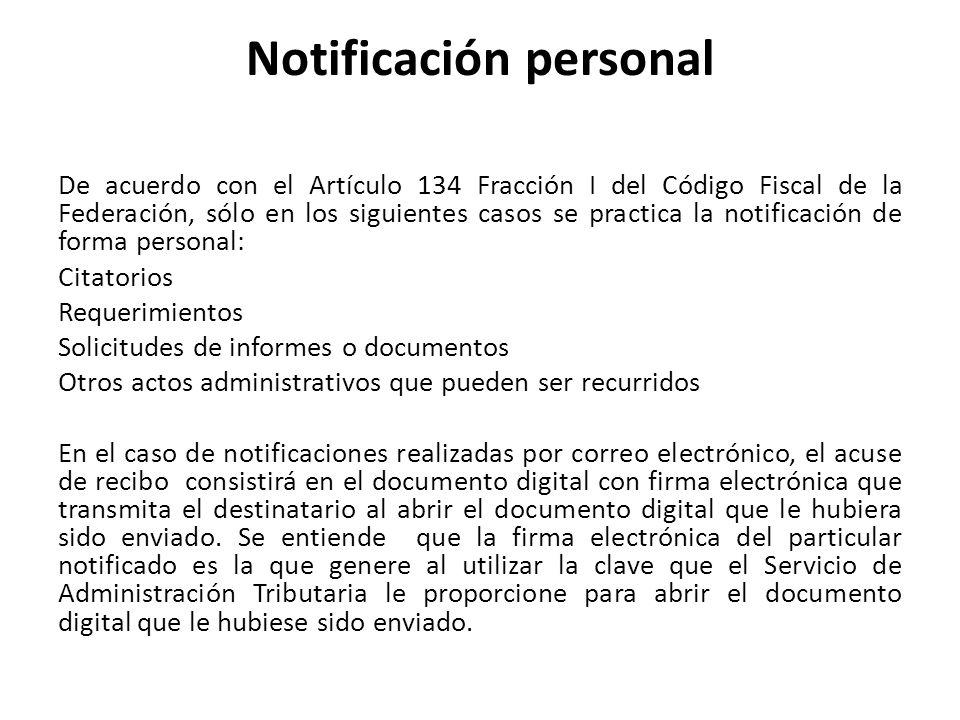 Notificación personal