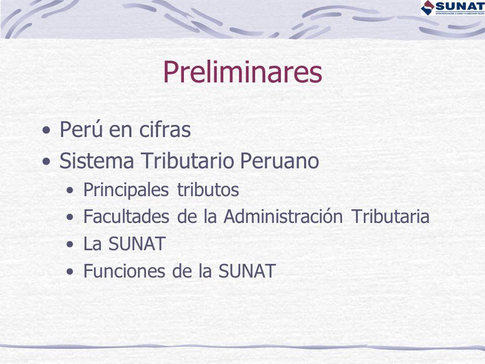 Preliminares Perú en cifras Sistema Tributario Peruano