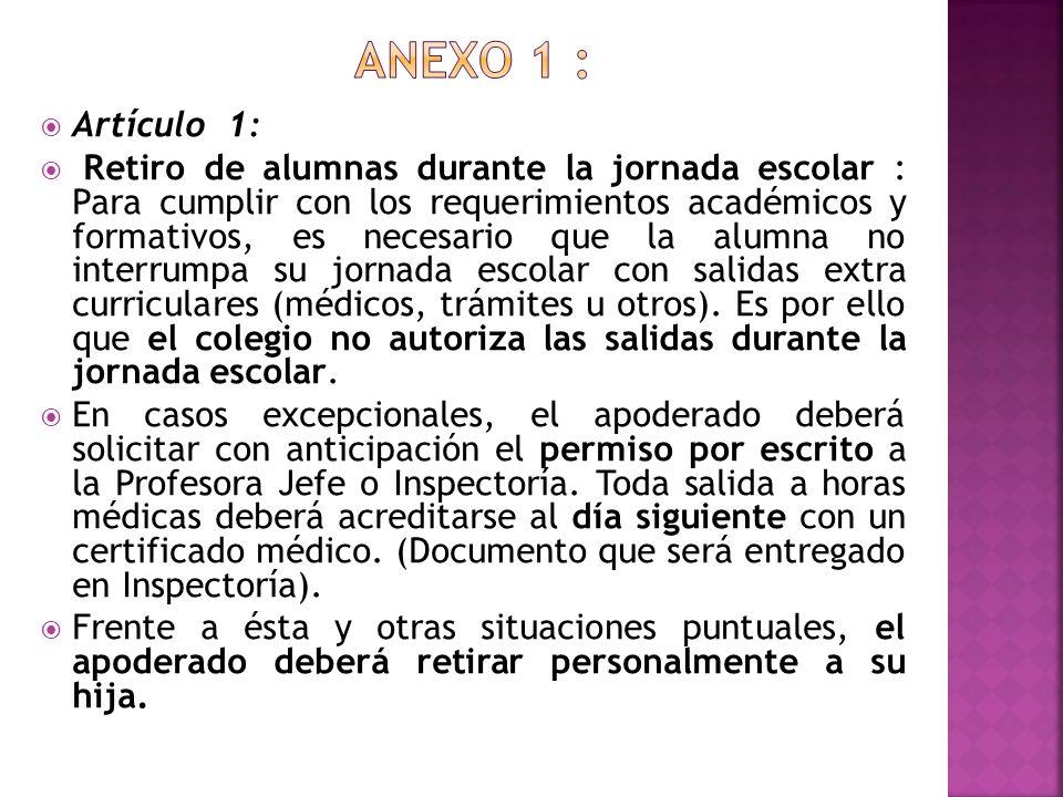 Anexo 1 : Artículo 1:
