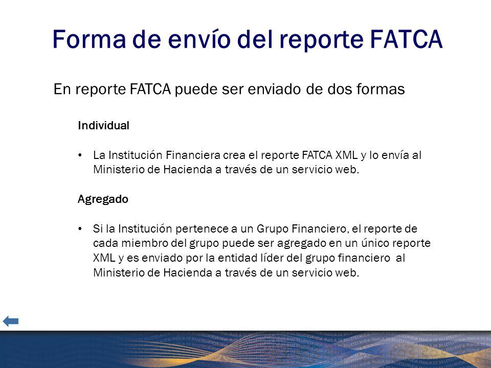 Forma de envío del reporte FATCA