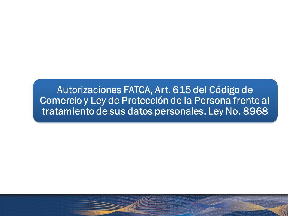 Autorizaciones FATCA, Art