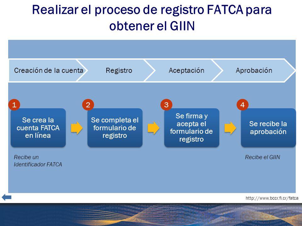 Realizar el proceso de registro FATCA para obtener el GIIN