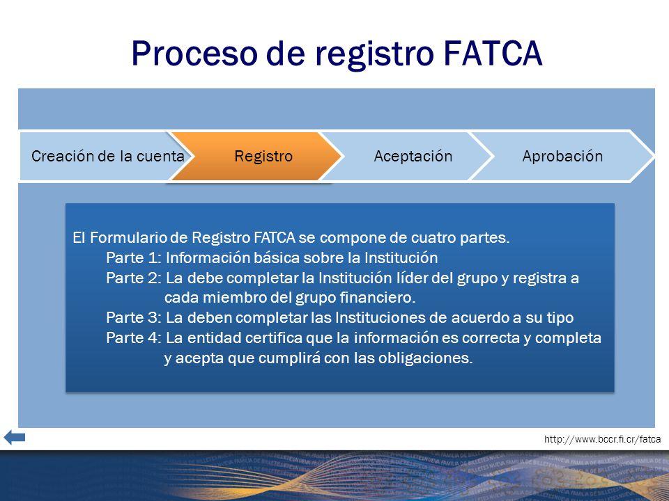 Proceso de registro FATCA
