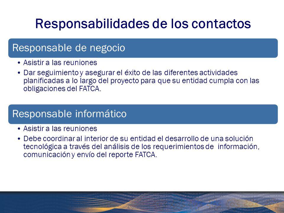 Responsabilidades de los contactos