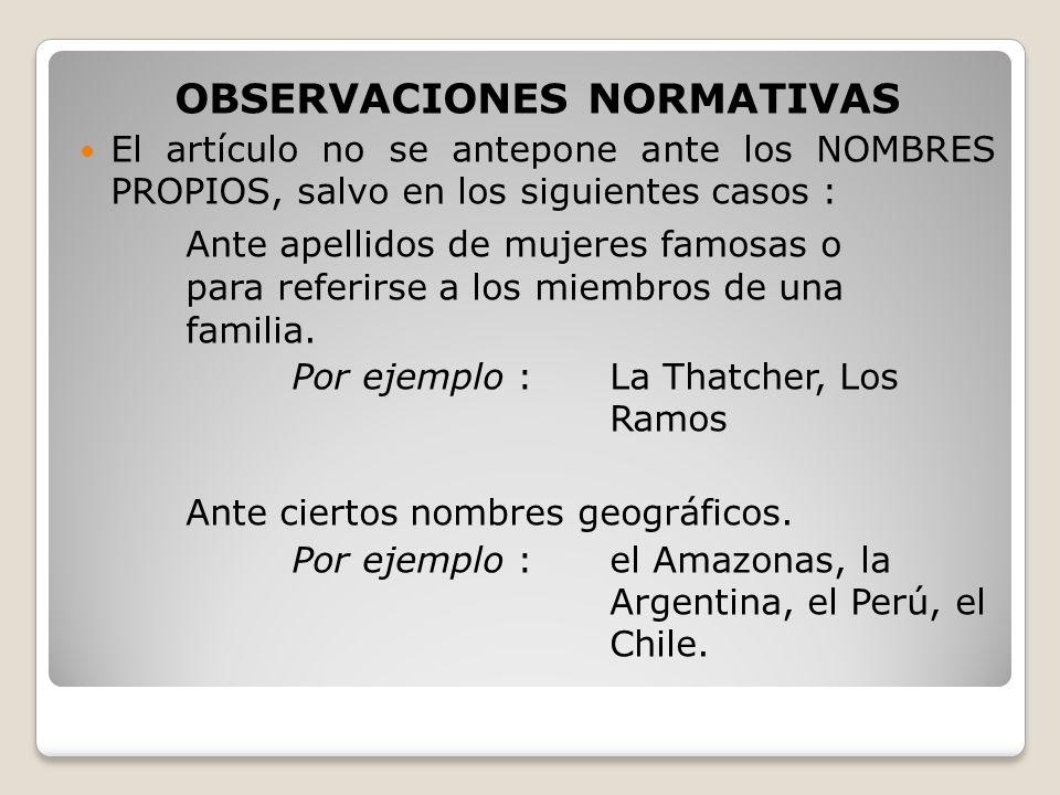 OBSERVACIONES NORMATIVAS