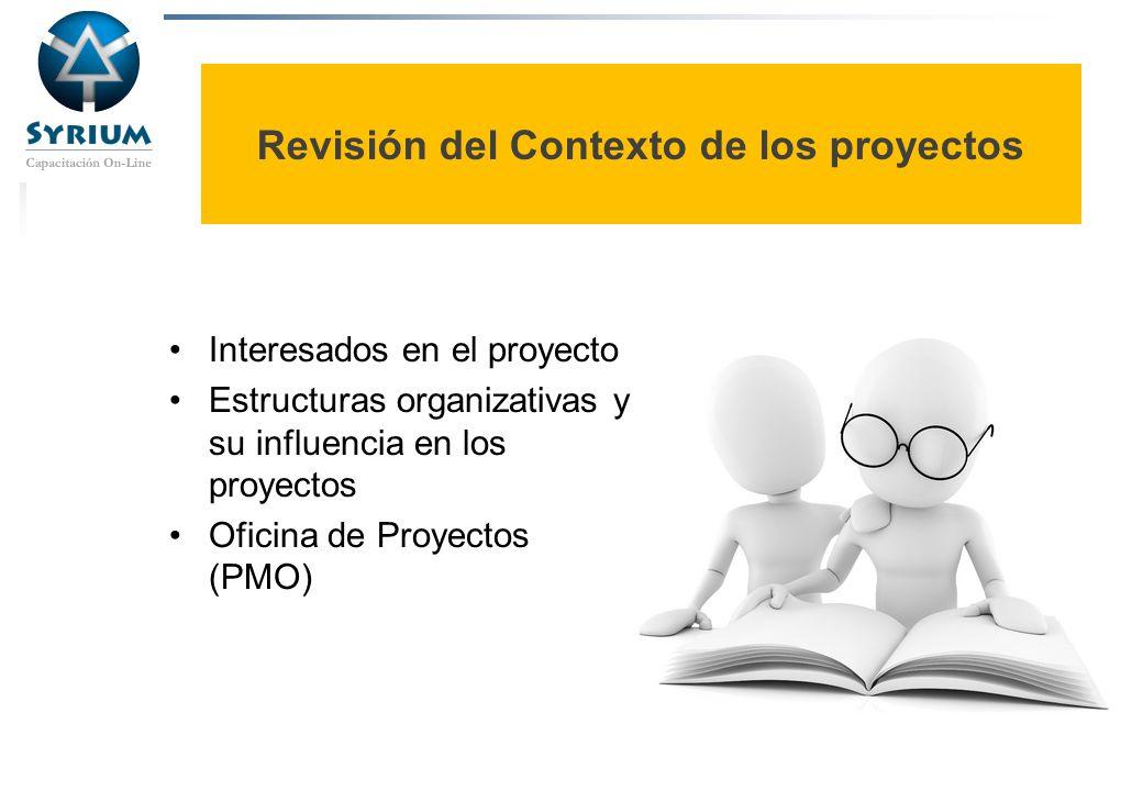 Revisión del Contexto de los proyectos