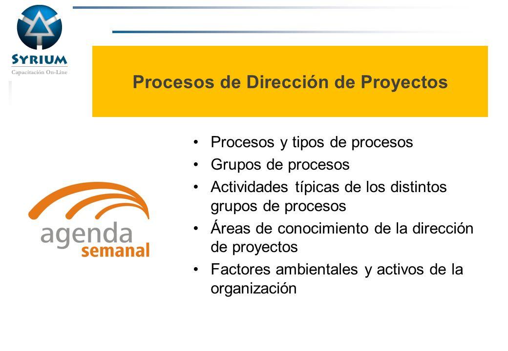 Procesos de Dirección de Proyectos