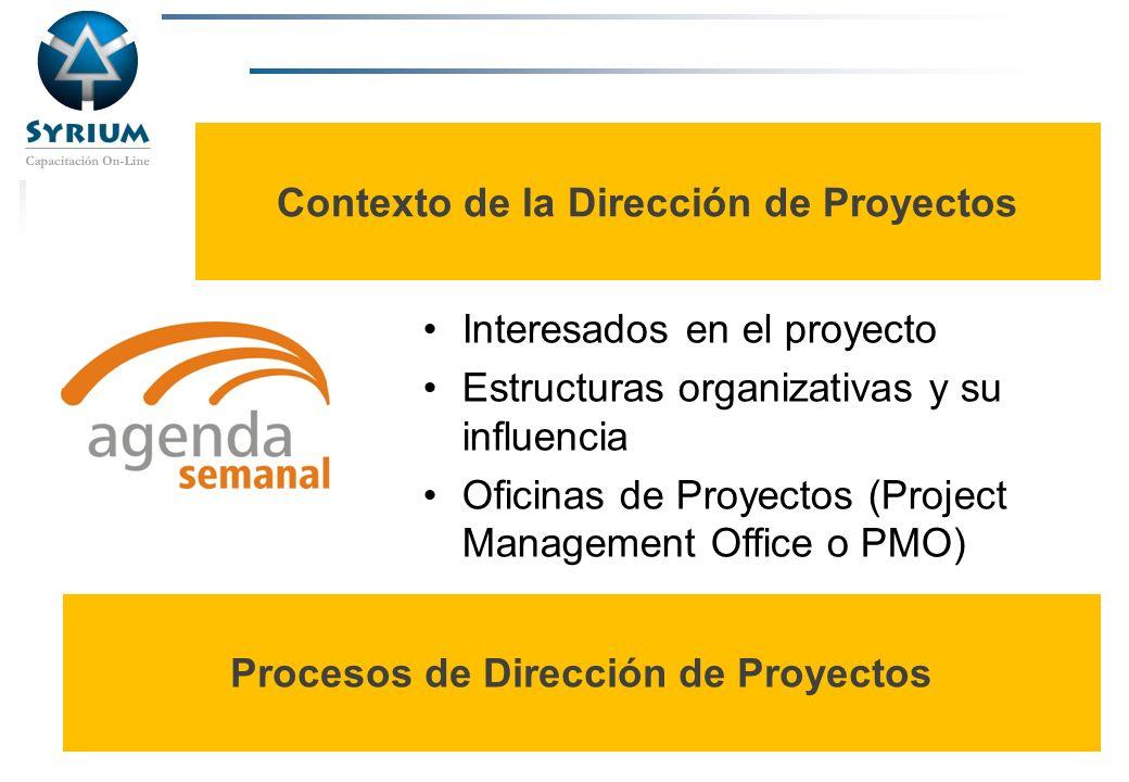 Contexto de la Dirección de Proyectos